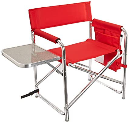 Amazon.com: Picnic Time Deportes Directores silla, Rojo ...