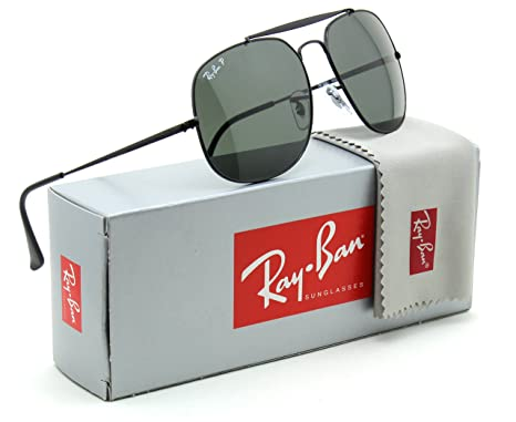 be9362caf6 Image Unavailable. Image not available for. Color  Ray-Ban RB3561 Genaral  Unisex Polarized Sunglasses Black 002 58