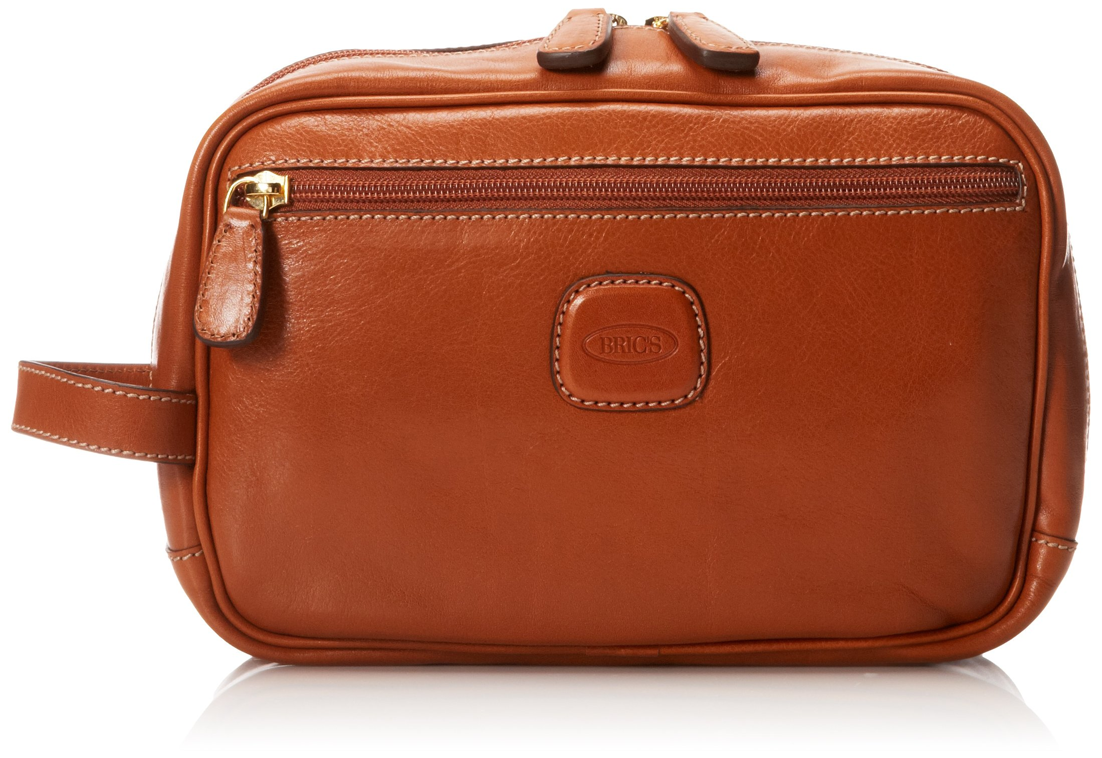 Bric's Luggage Life Pelle Traditional Shave Case, Cognac, One Size