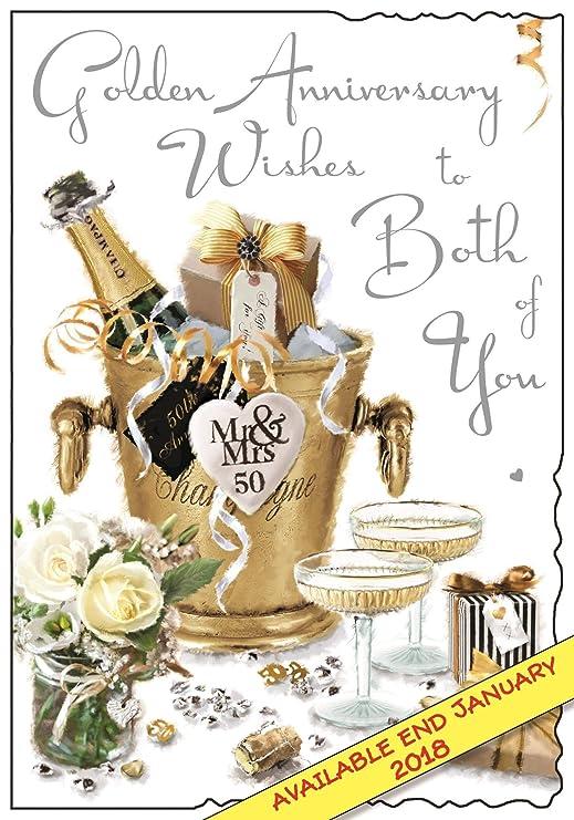 Bodas de oro reflexiones tarjeta - flores 22,86 cm x 15,24 cm ...