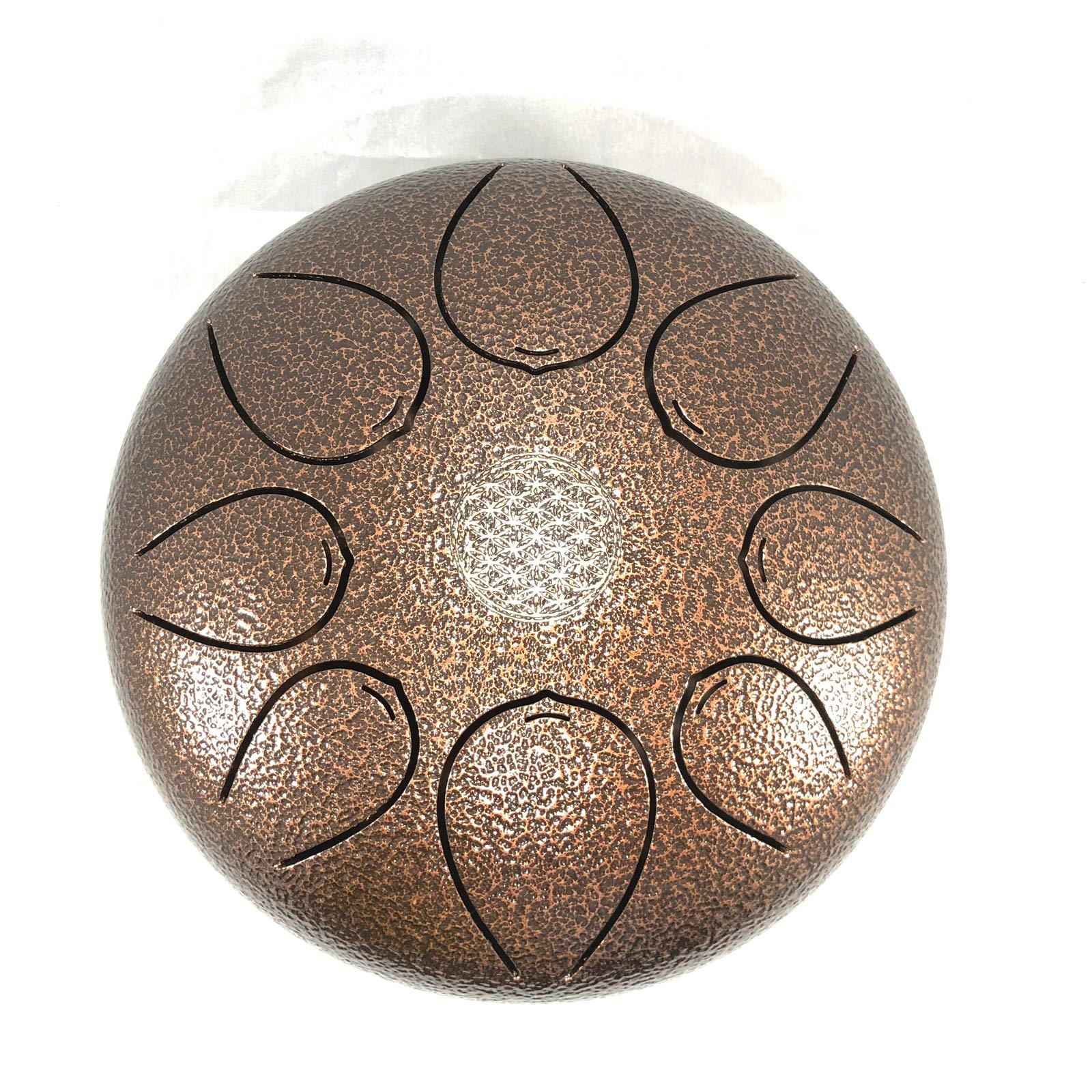 WuYou 12'' Large Steel Tongue Drum Chakra Tank Drum Hand Drum, Speciel Notes, Free Cusion Bag and 2 sticks
