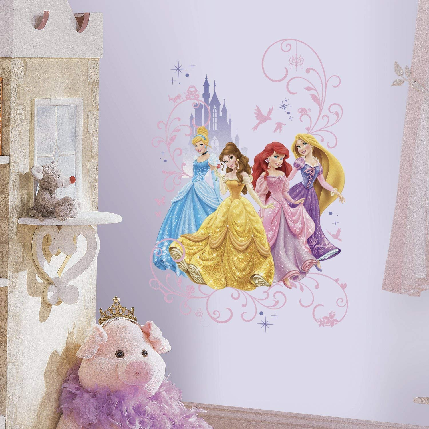 Vinilo Decorativo Pared [0VS6QO8W] princesas de disney