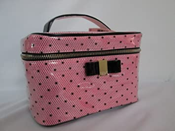 1589102679 Image Unavailable. Image not available for. Color  Victoria s Secret Train  Case Makeup Cosmetic Travel Bag Pink Black Bow ...