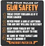 Patriot Patch Co - 4 Rules of Gun Safety - Patch