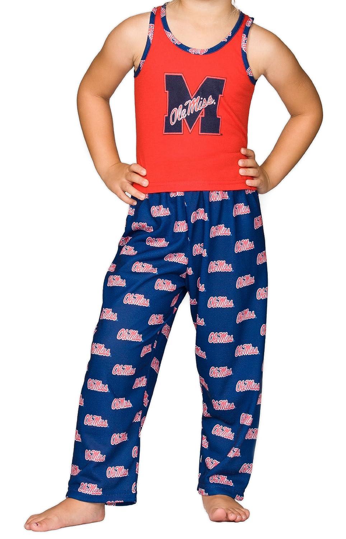 6X Mississippi OleMiss Rebels Little Girls Capri Pajama Set 2T