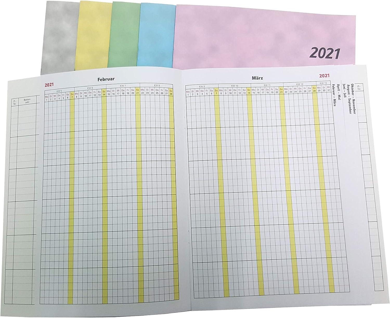 Zimmerbelegungsplan 2021 blau