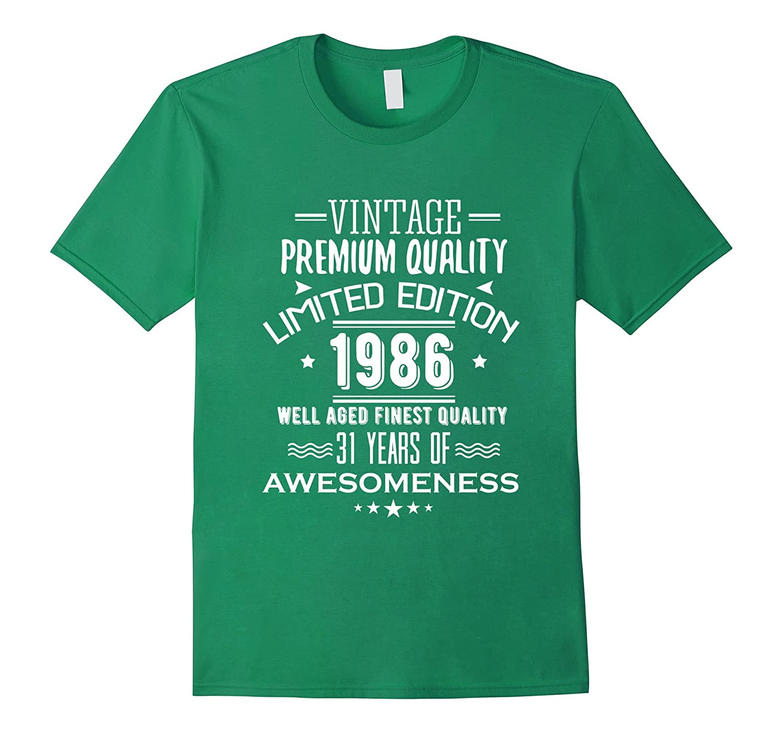 1986 T Shirt For Men Women 31st Birthday Gift Ideas TH
