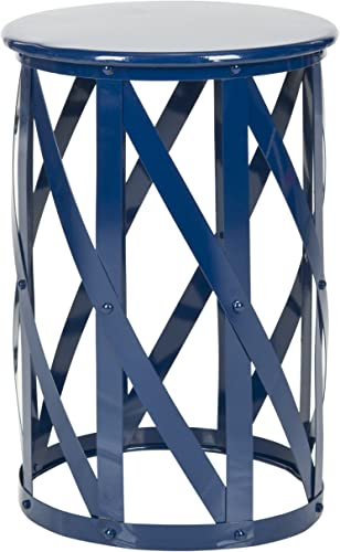 Safavieh Home Collection Bertram Navy Barstool