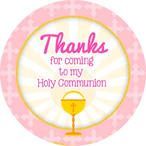 First holy communion sticker labels personalised seals ideal for party bags sweet cones favours