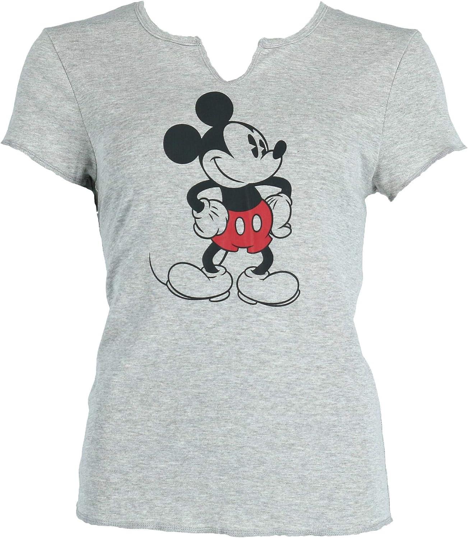 Disney T-shirt Ladies White Mickey Wink Size S,M,L,XL