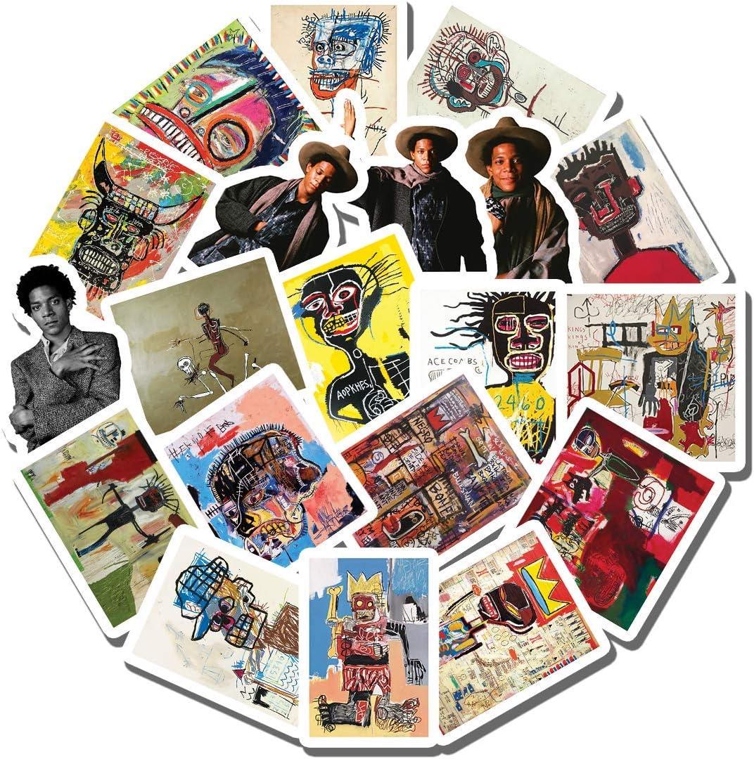 20 PCS Stickers Pack Basquiat Aesthetic Vinyl Colorful Waterproof for Water Bottle Laptop Scrapbooking Luggage Guitar Skateboard