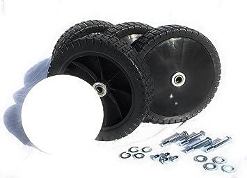 Cortacésped 4 ruedas ruedas de repuesto para cortacésped 200 mm x 50 mm con rodamiento a