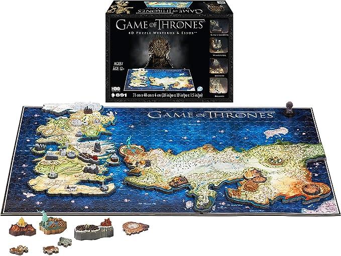 4D CITY SCAPE- RompecabezasPuzzles encajables y rompecabezas4D City SCAPEGame of Thrones Westeros and Essos, Multicolor (1000): Amazon.es: Juguetes y juegos