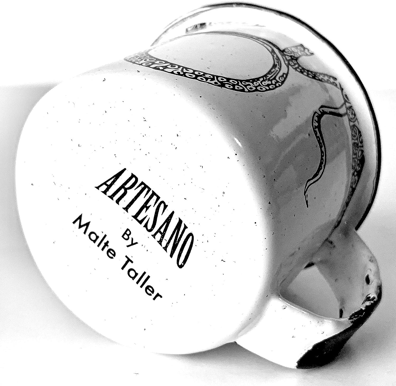 3 oz.//85 ml. Espresso//Shots//Kiddie Cup//Succulent//Tin Cup//Campfire Mug//Outdoor//Indoor//Travel Cup Small ARTESANO Enamel Espresso Cup with Black Rim Octopus 3 oz.