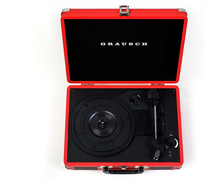Grausch RPS100 Briefcase Style Three-Speed Portable Vinyl ...