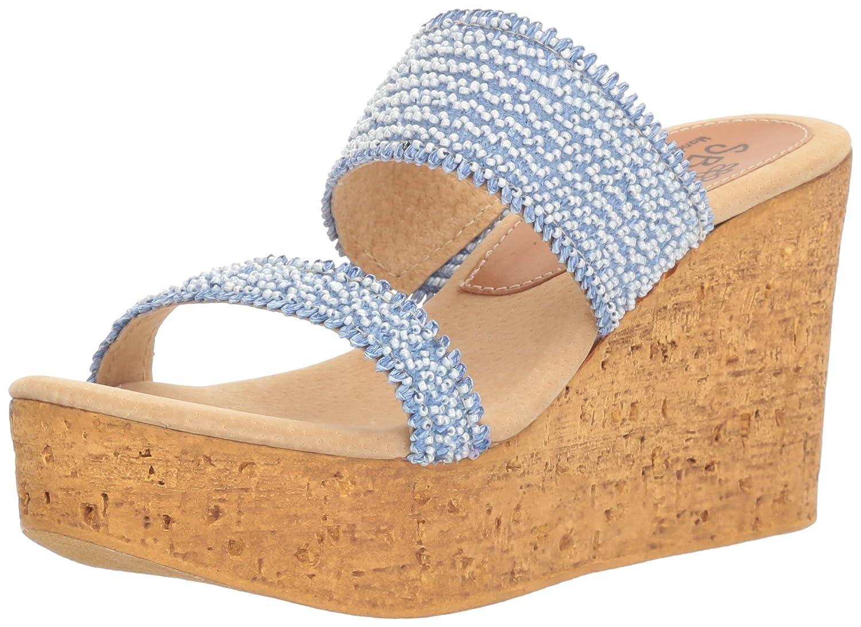 Sbicca Women's Moreno Wedge Sandal B01M0XKDJJ 6 B(M) US|Blue