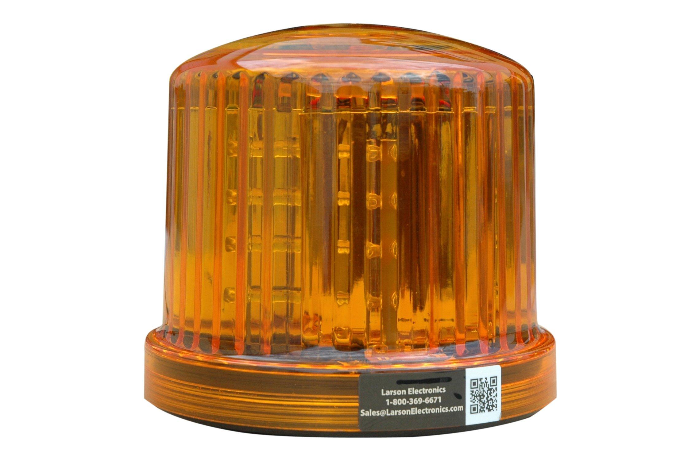 Larson Electronics SL-360-M-A Amber LED 360-Degree Beacon with Magnetic Base