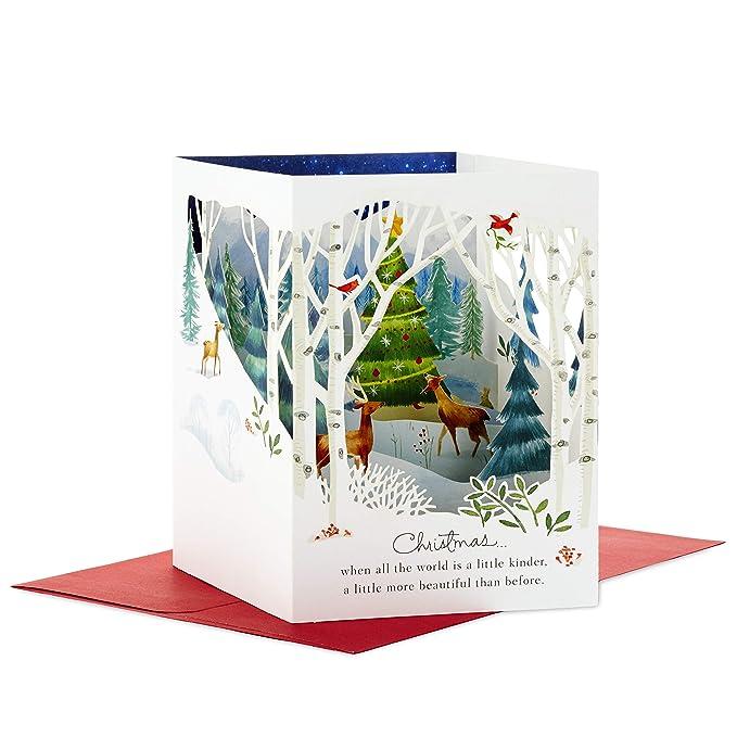 Hallmark Paper Wonder Pop Up Holiday Card (Woodland Animals Pop Up)