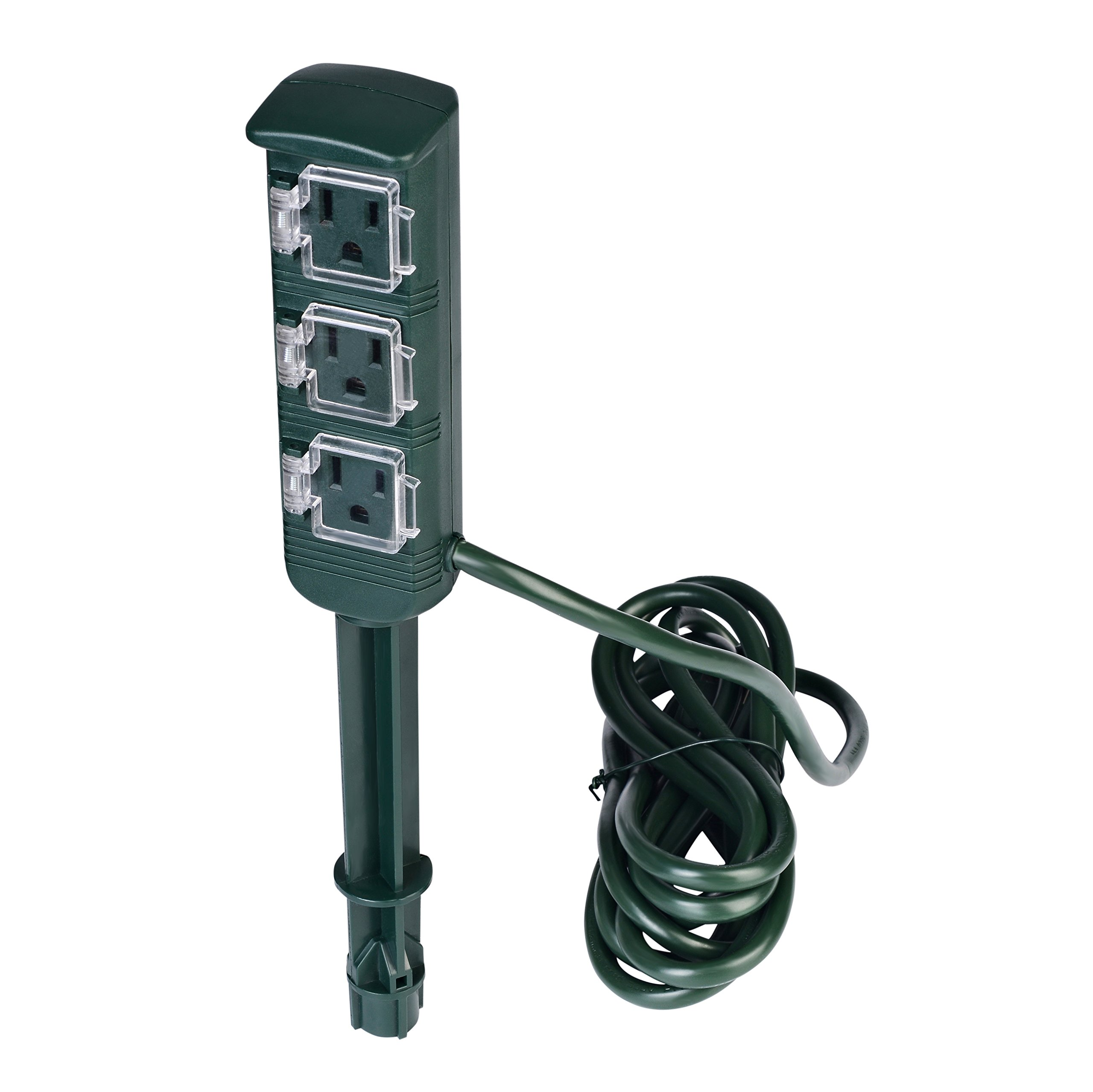 Kungfuking Outdoor Outlet Stake for Yard Outdoor Electrical Equipment Christmas Lights