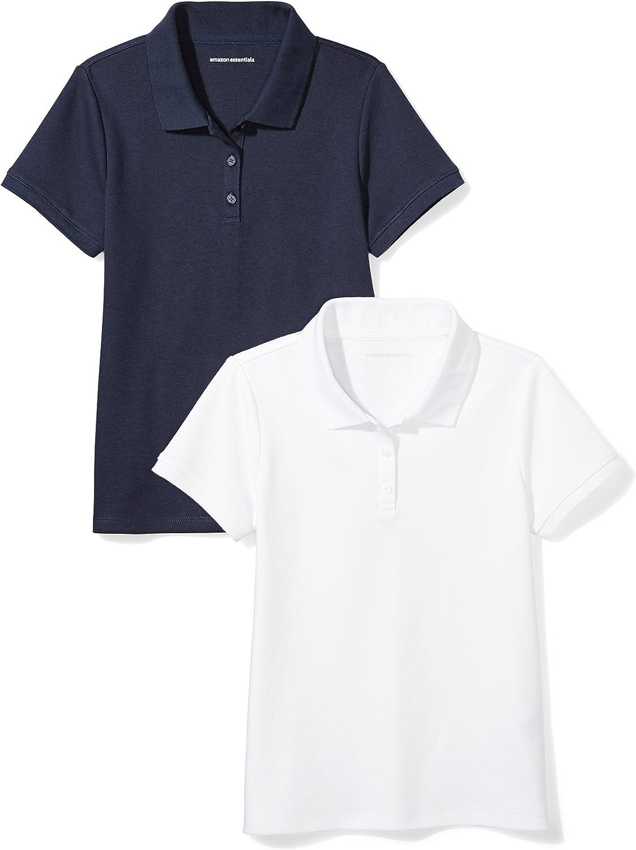 Amazon Essentials Girl's Short-Sleeve Uniform Interlock Polo