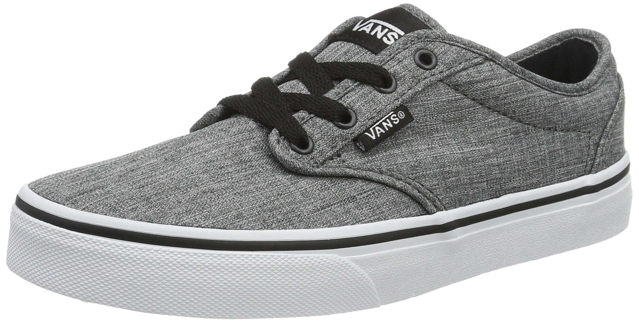 6a2cffbe35 Galleon - Vans Kids Atwood Shoes Rock Textile Black White Size 3