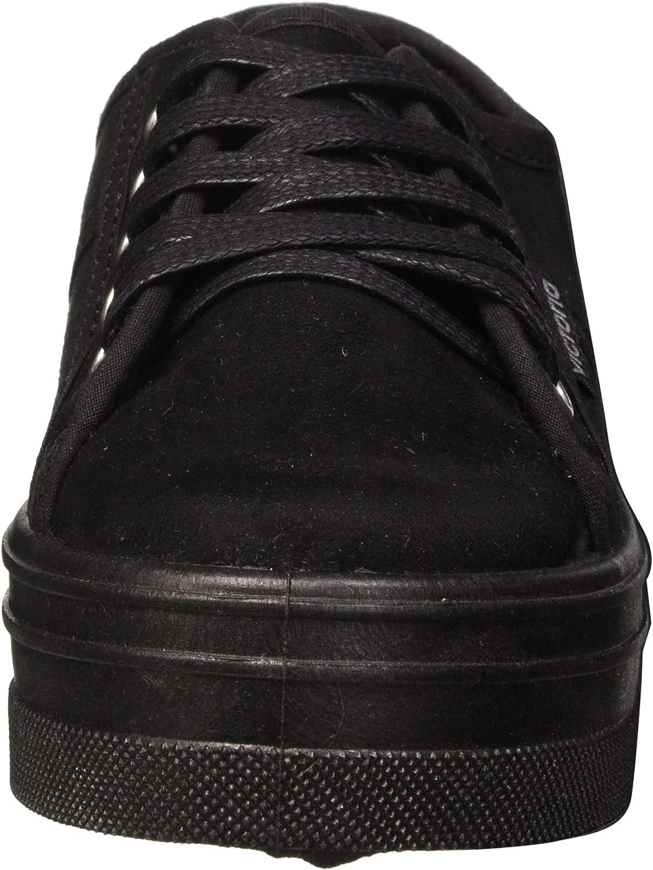 victoria Blucher Antelina Plataforma, Sneaker Donna Nero Noir Negro