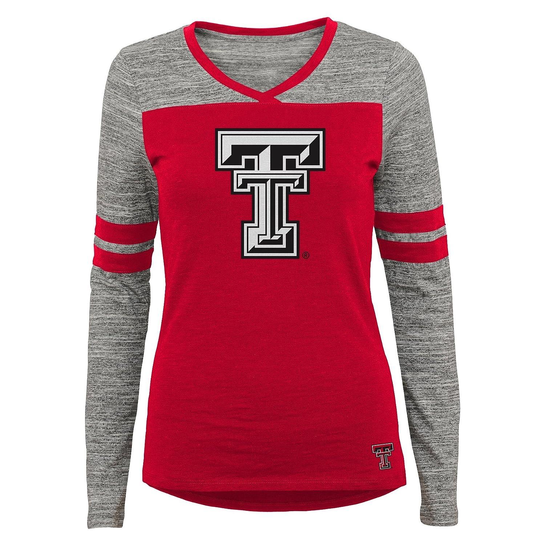 X-Large NCAA Texas Tech  Raiders Juniors Outerstuff Secret Fan Long Sleeve Football Tee 15-17 Team Color
