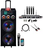 "NYC Acoustics Dual 12"" Karaoke Machine/System 4 ipad/iphone/Android/Laptop/TV"