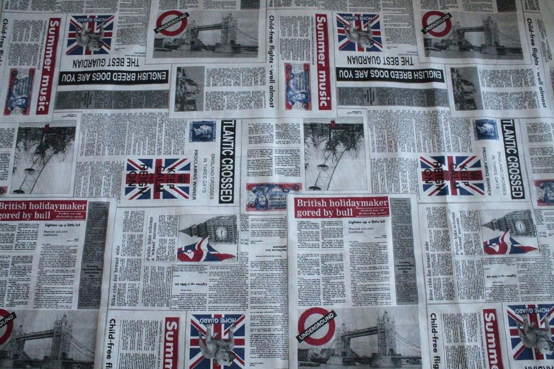 Tela para tapicería muebles postal Periódicos Periódicos ...