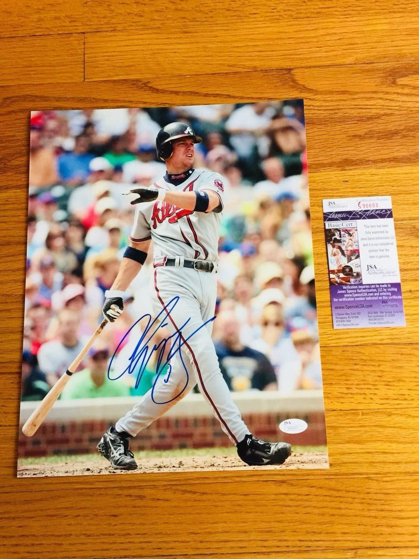Chipper Jones Autographed Signed Autograph 11x14 Baseball JSA Coa