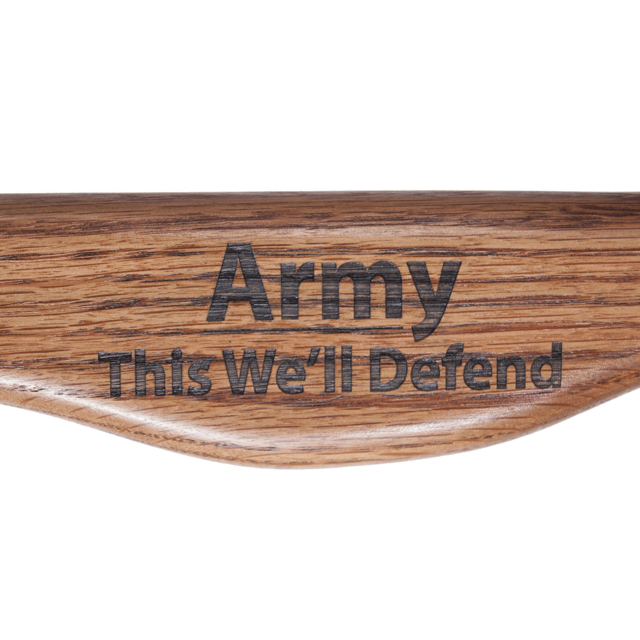Brazos 55'' Oak Wood Walking and Hiking Stick, Army Legacy Staff by Brazos (Image #4)