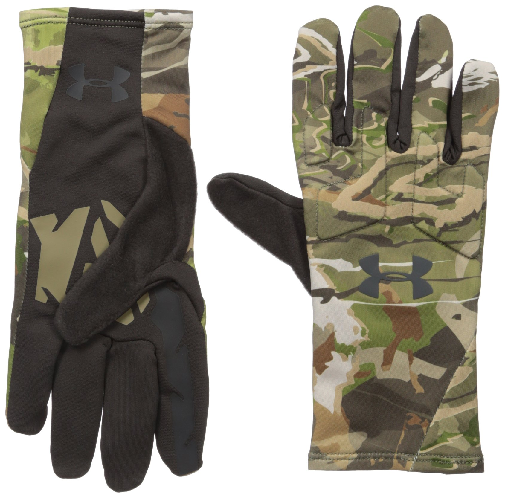 Under Armour Men's Scent Control 2.0 Hunting Gloves, Ridge Reaper Camo Forest (943)/Black, Medium