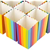 Mini Rainbow Popcorn Party Favor Boxes (100 Pack)
