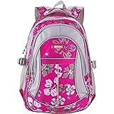 Unisex Zaino Scuola per Elementare e Media impermeabile Schoolbag Casuale per Ragazze Scuola Borse Zaini Borsa Scuola Borse da Viaggio (Rosa)