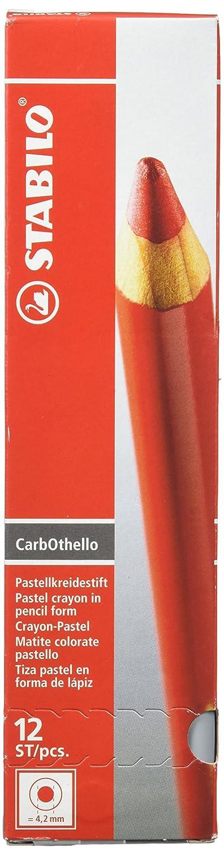 STABILO CarbOthello - Lápiz de color tiza-pastel - Caja con 12 unidades - Color bister 1400/635
