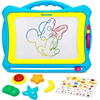 Biulotter Magnetic Drawing Board Colorful Magna Doodle Drawing Board Writing Painting Doodle Board Sketching Pad with 5…