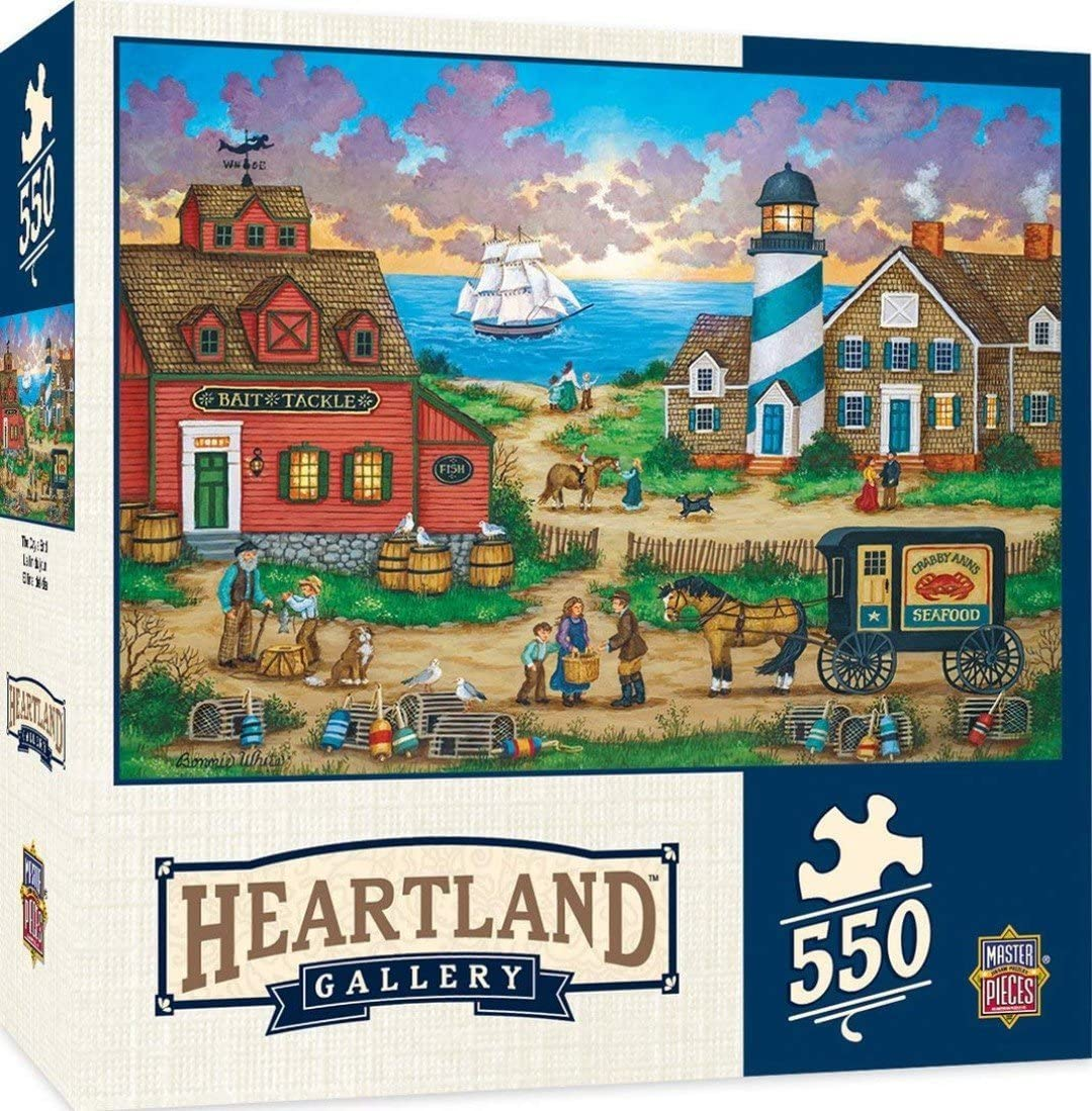 MasterPieces Heartland Collection Jigsaw Puzzle Featuring Art by Bonnie White The Quilt Barn 550 Pieces