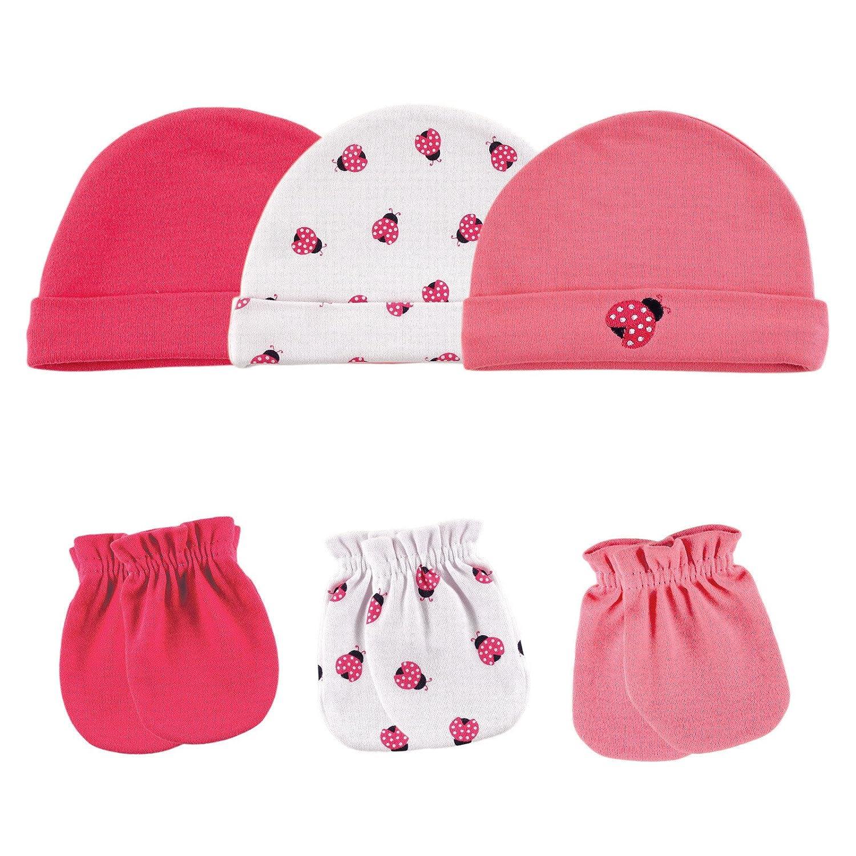 248ef9969 Luvable Friends Cotton Cap and Scratch Mitten Set