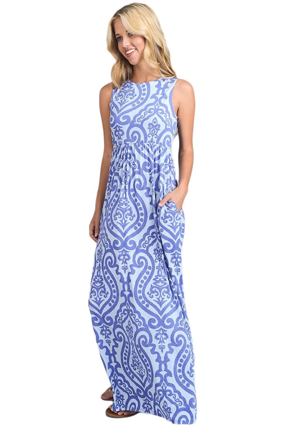 c13d32d2012b Vanilla Bay Signature Racerback Maxi Dress at Amazon Women's Clothing store: