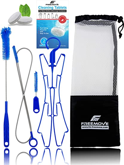 4-in-1 Pack /& AU Fits Brushes Hydration For Hanger Water Bladder Cleaning Kit