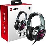 MSI IMMERSE GH50 7.1 Virtual Surround Sound RGB Gaming Headset 'Black with Ambient MSI Dragon Logo, RGB Mystic Light…