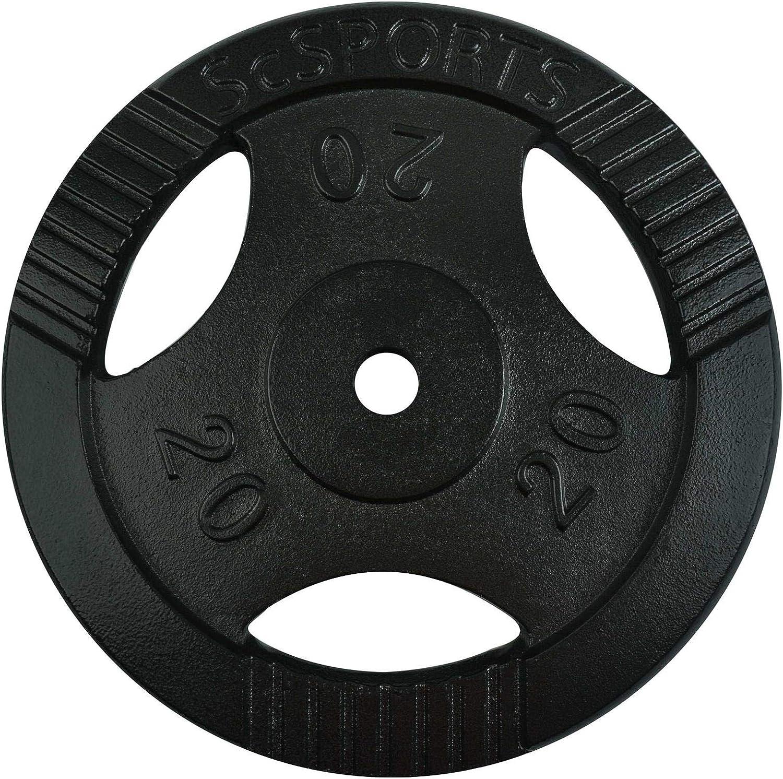 FOURSCOM/® Rubber Hantelscheiben 1,25Kg// 2,5Kg// 5Kg// 10Kg// 15Kg// 20Kg// 25Kg Lochdurchmesser 30mm Schwarz