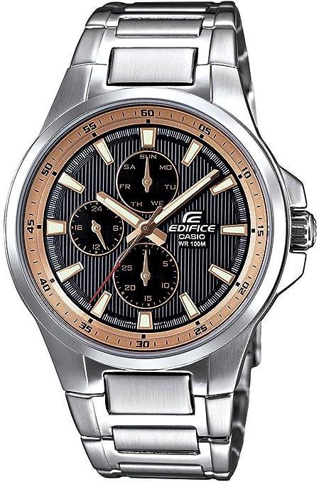 282e9fa90f22 Casio Edifice EF-342D-1A5VEF - Reloj analógico de cuarzo para hombre ...