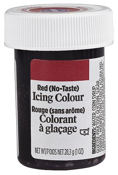Amazon.com: Wilton Icing 1 oz 610-998, Red No-Taste: Food Coloring ...