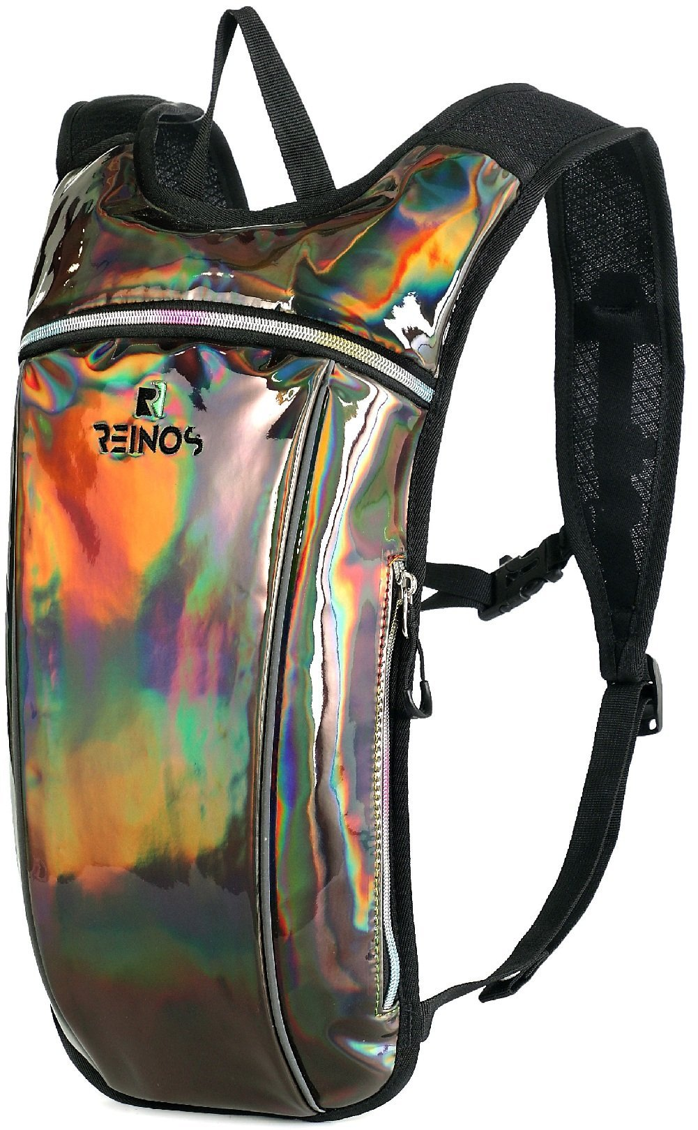 REINOS Hydration Backpack - Light Water Pack - 2L Water Bladder Included for Running, Hiking, Biking, Festivals, Raves (Gunmetal)