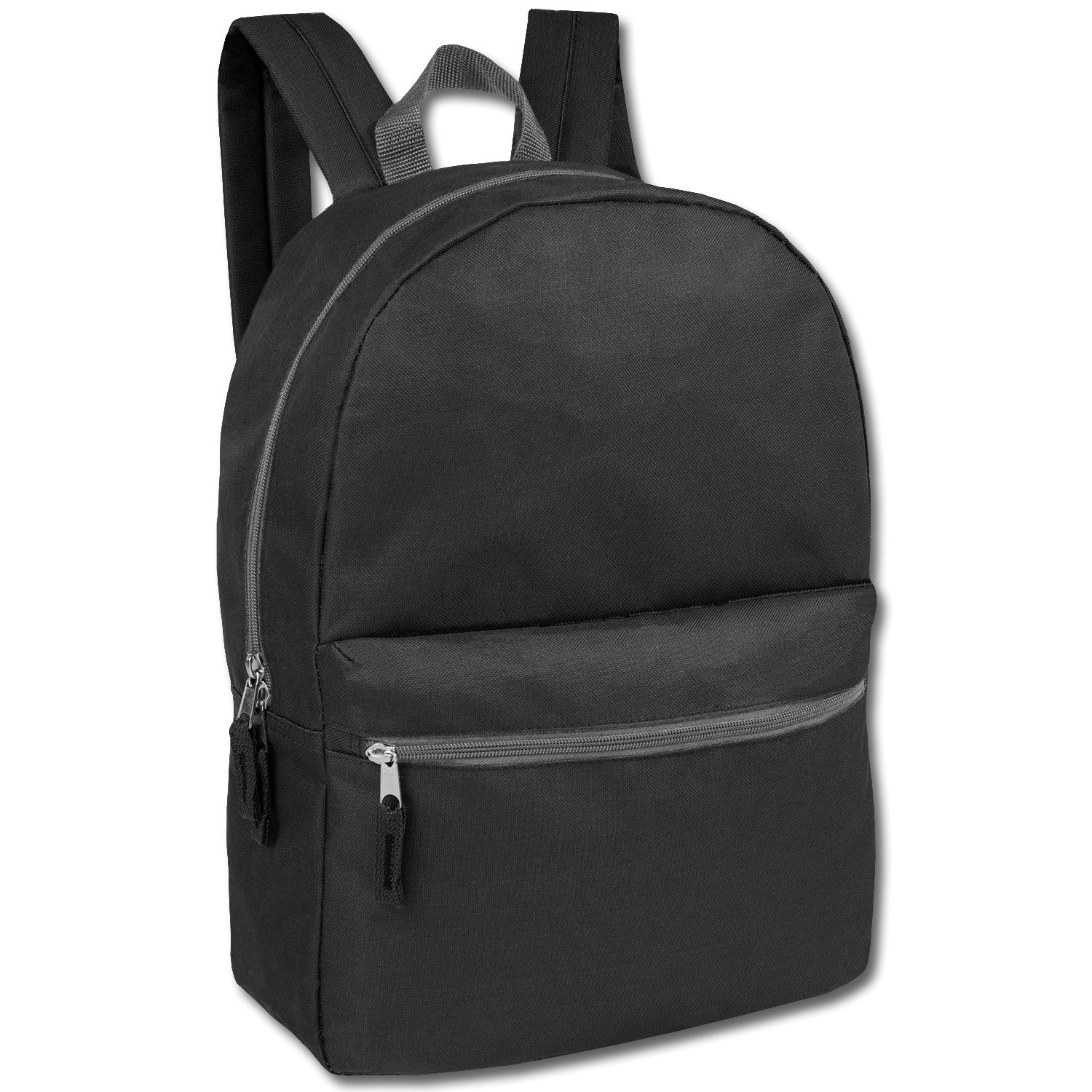 Trailmaker 17 Inch Classic Backpack - Black Only Case Pack 24 by Trailmakers