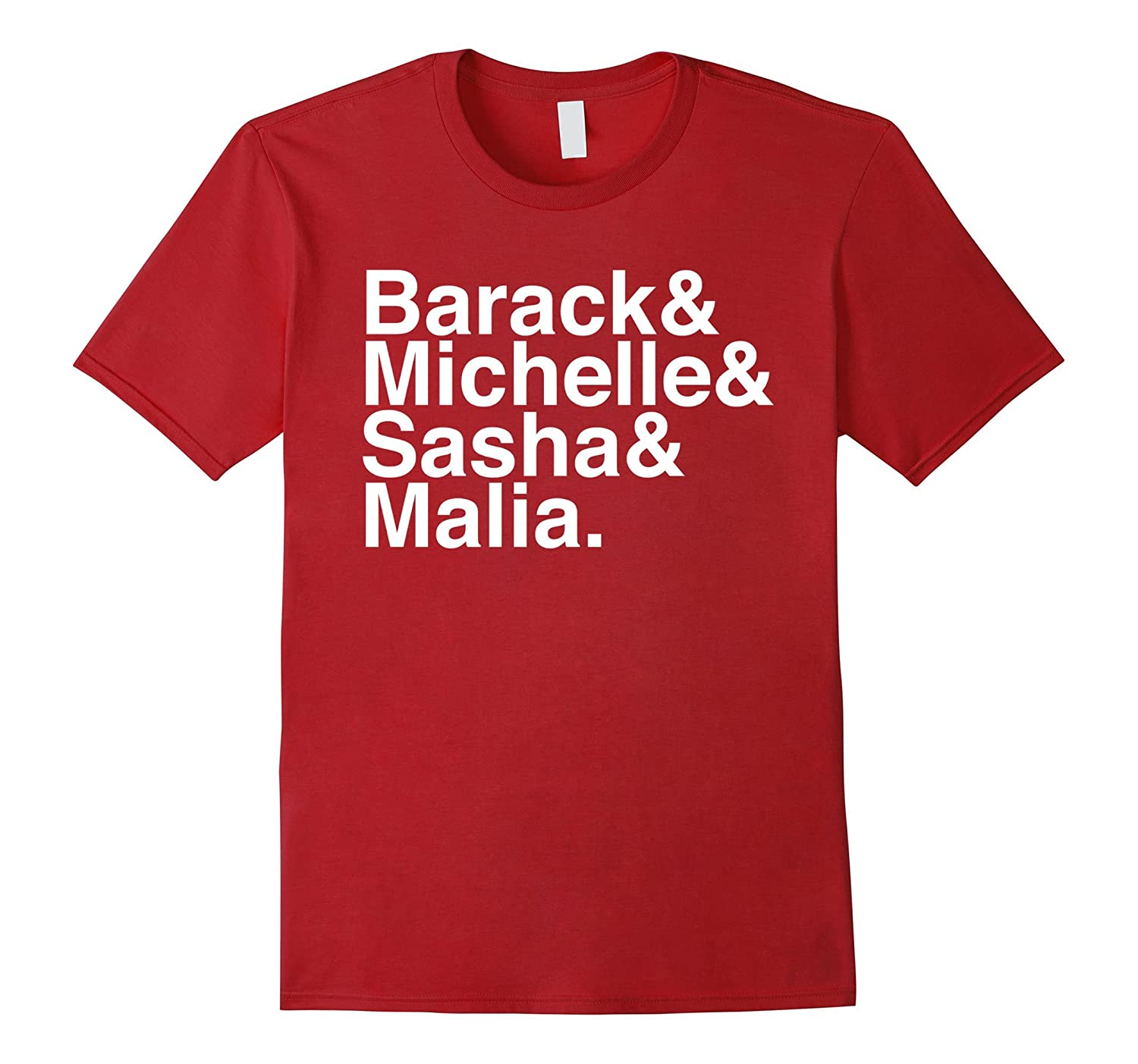 Obama Family Barack & Michelle & Sasha & Malia tee shirt