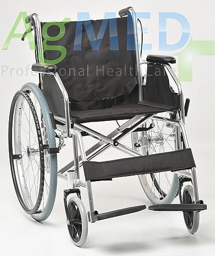 Carrozzina Pieghevole Ad Autospinta In Alluminio Sedia A Rotelle Per Disabili Ed Anziani Agila Light 46
