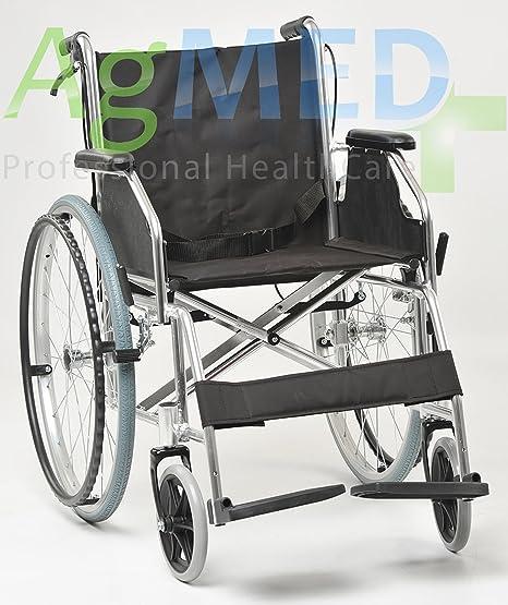 Silla de ruedas Agila Light 46, plegable por la parte trasera, para discapacitados y
