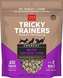 product image for Cloud Star Tricky Trainers Crunchy, Low Calorie Training Dog Treat, Made in the USA, Wheat & Corn Free